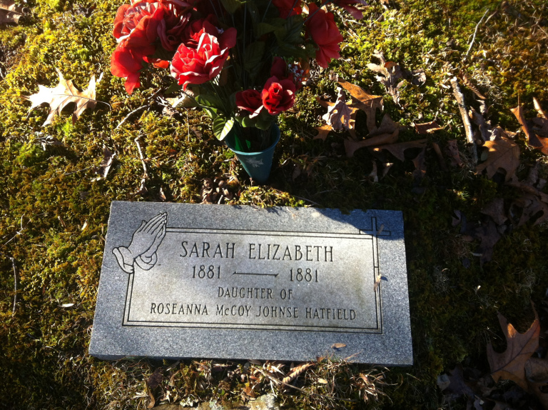 """The tombstone/grave site of Sarah Elizabeth """"Sally"""" McCoy"""