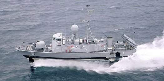 The USS Aries was built in 1981 and operated until 1993. It is the only one remaining of the six hydrofoils the Navy built.