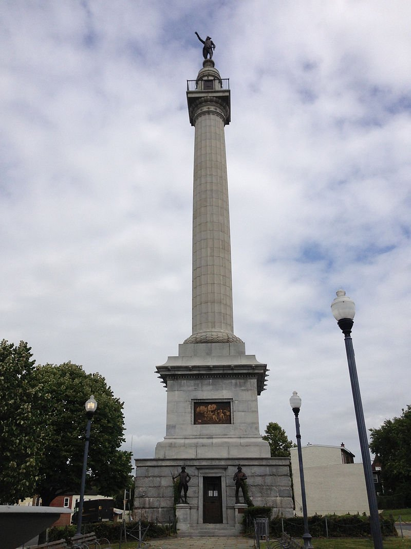 The monument was designed by John H. Duncan and is perhaps ironically modeled after a famous British monument