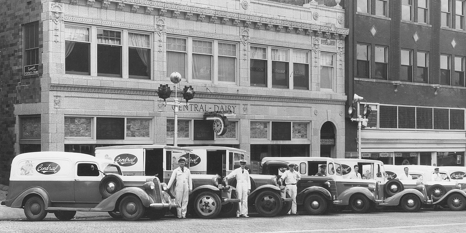 Central Dairy circa 1950. Photo from the Missouri State Historical Society
