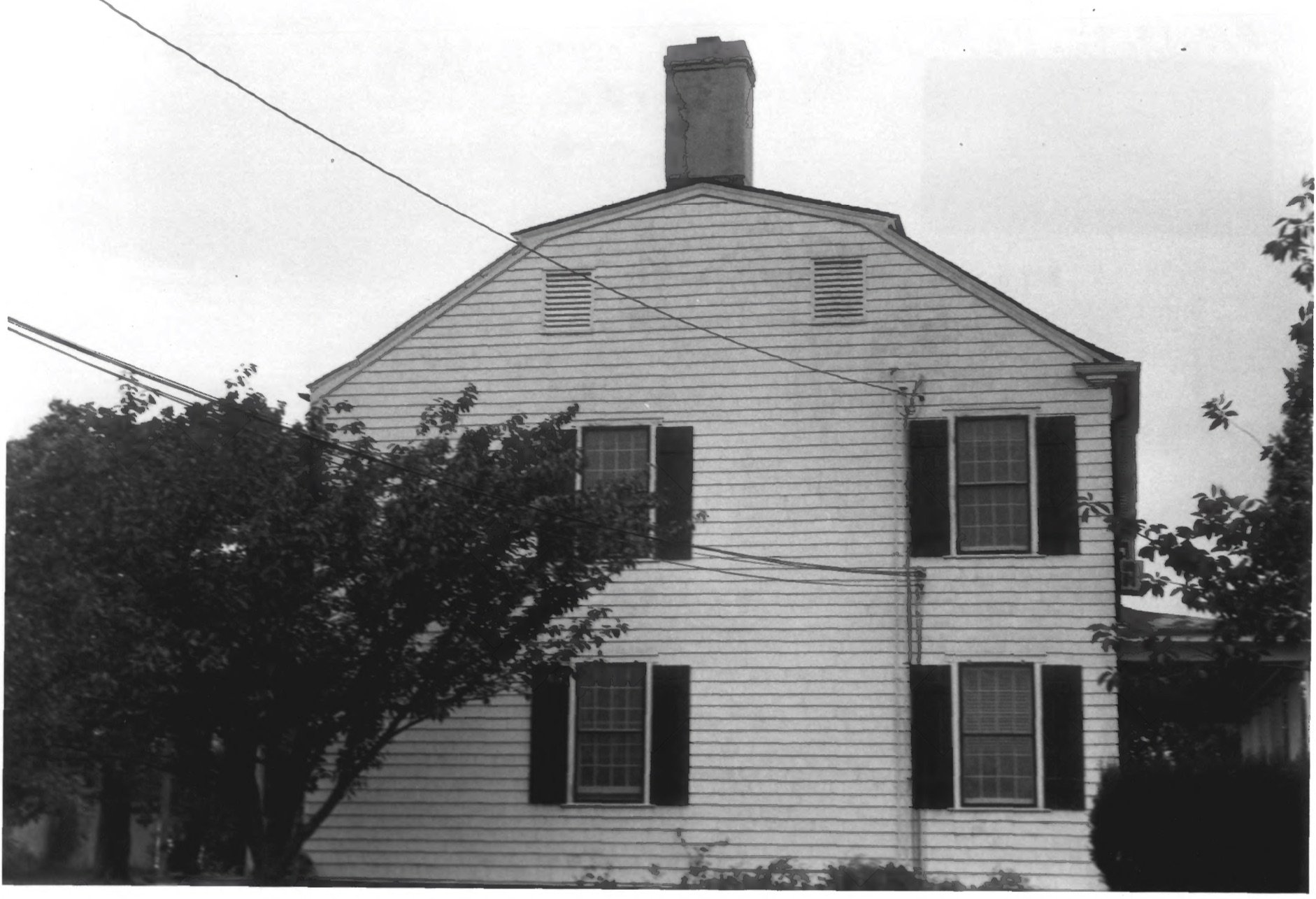 Rear Facade of the Cove House in 1979 by D. Ransom, Part of the NPS NRHP Photographic Collection on the Cove House