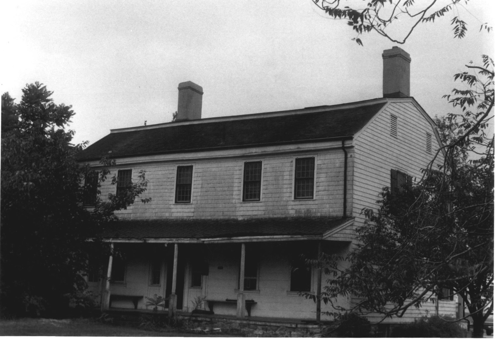 Rear Facade on the Cove Island House in 1979 by D. Ransom, Part of the NPS NRHP Photographic Collection on the Cove House