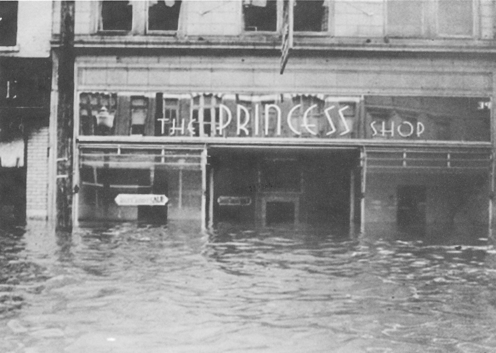 The Princess Shop during the flood of 1937