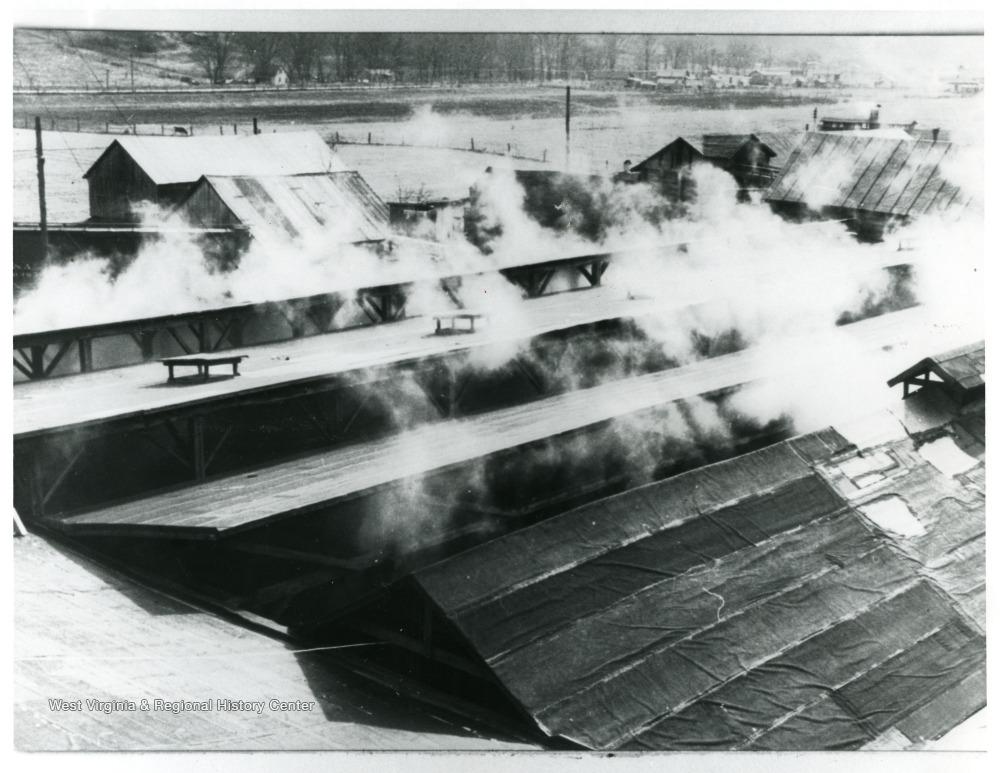 Salt works evaporating sheds