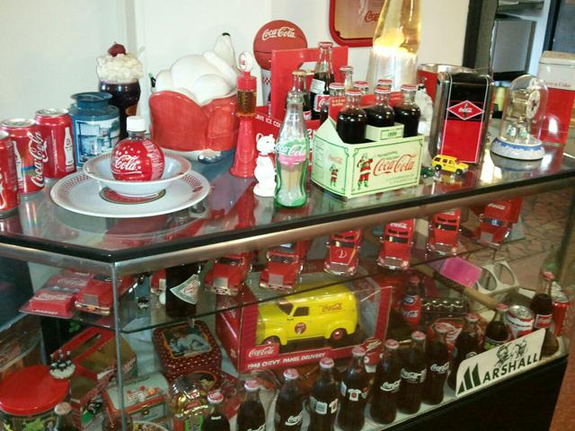 The Coca-Cola memorabilia collection