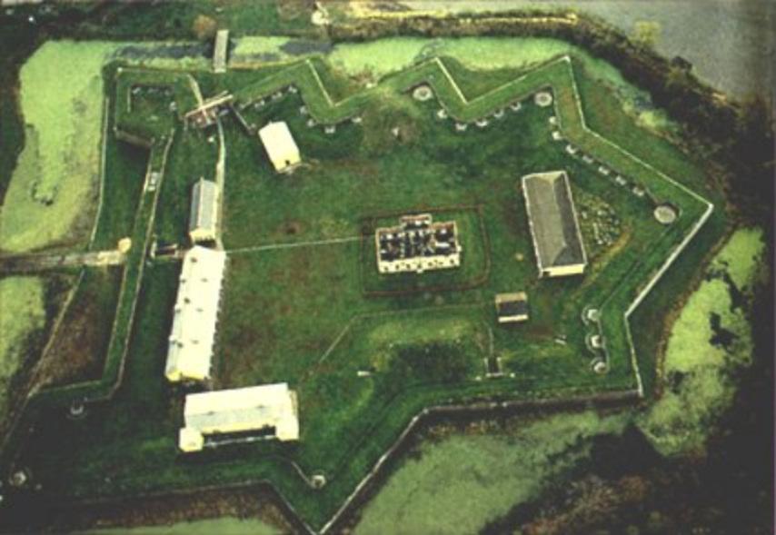 Overhead view of Fort Mifflin