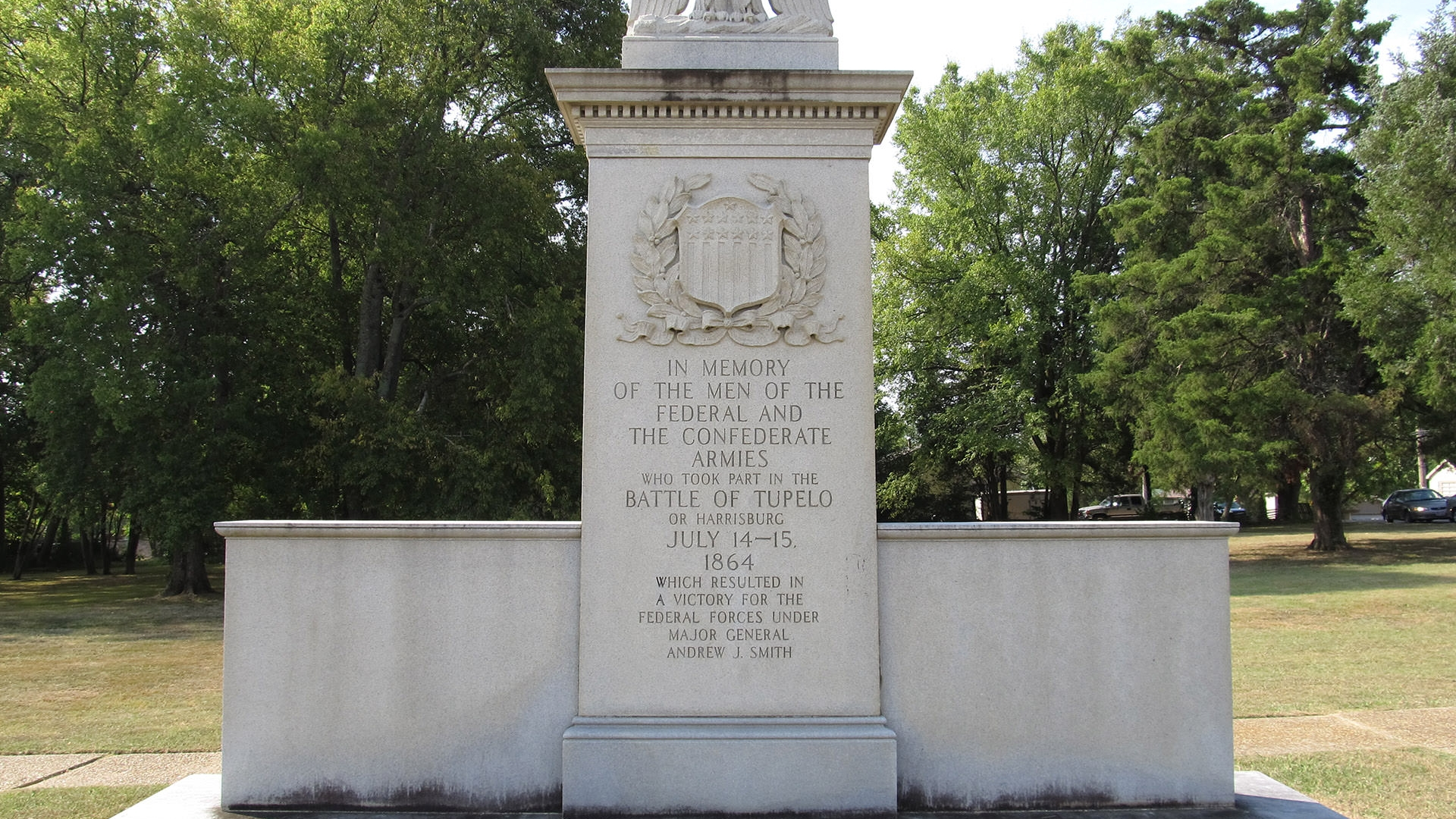 A close-up image of the monument