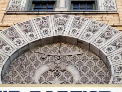 Detail of the building's Moorish elements