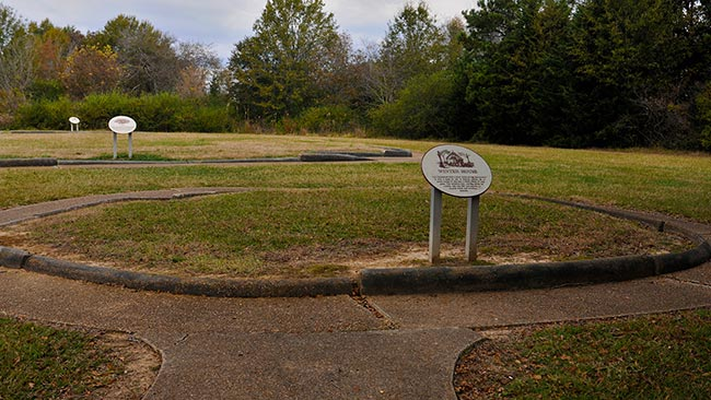 The archaeological site at the Chickasaw Village