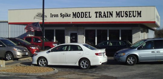 The Iron Spike Model Train Museum features several model train layouts and a library of train-related materials.