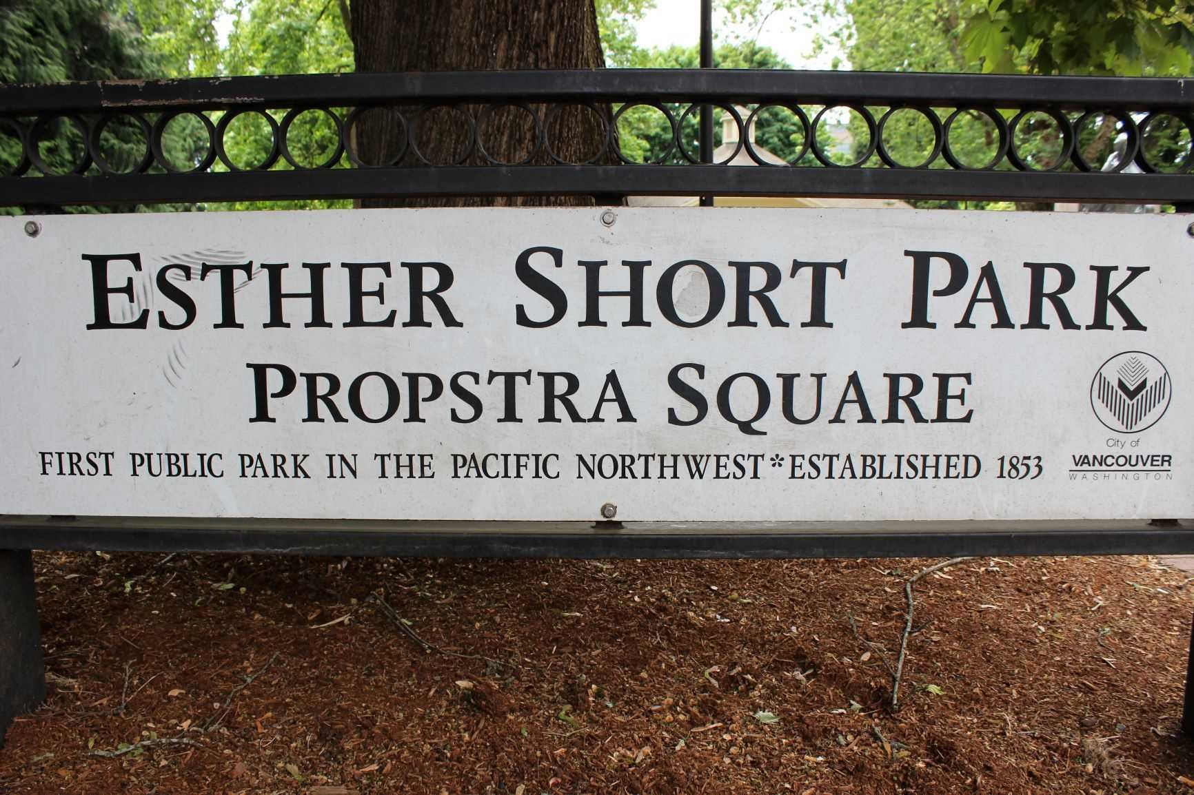 Esther Short Park sign