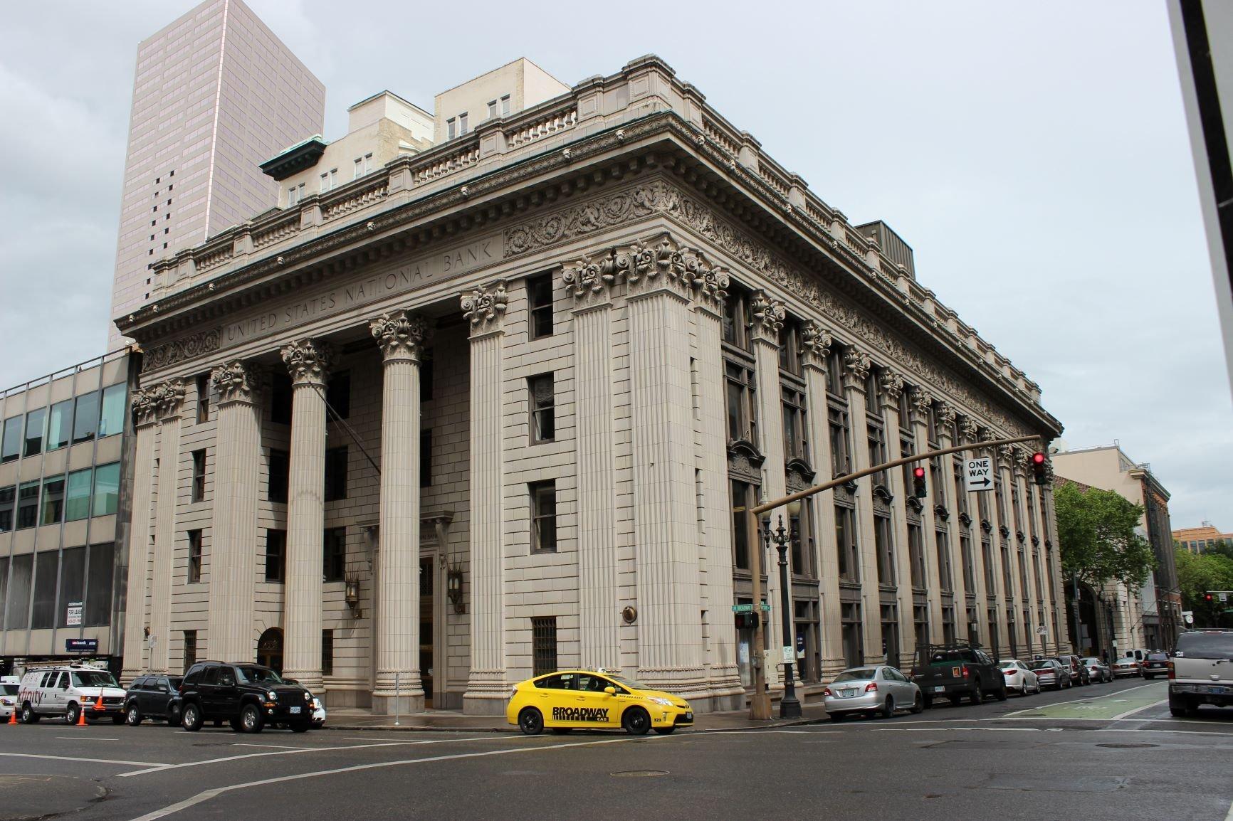 U.S. National Bank. Photo by Cynthia Prescott.