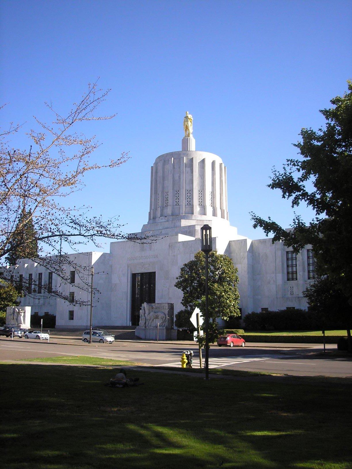 1938 Oregon statehouse. Photograph by Cynthia Prescott.