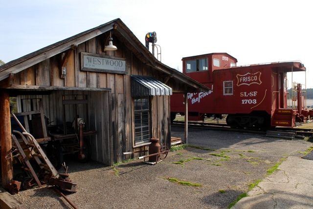 The train depot and Frisco Caboose on site