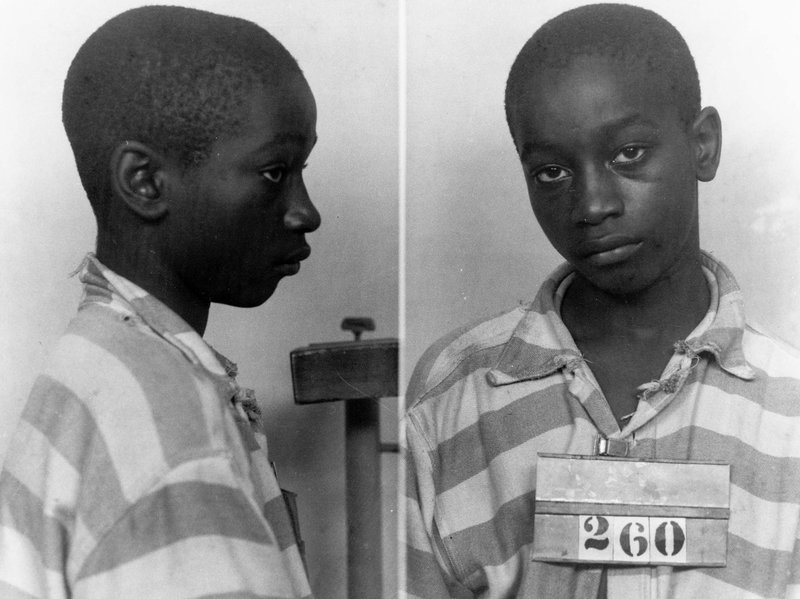 Un undated police booking photo of George Stinney Jr. provided by the South Carolina Department of Archives and History