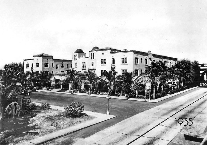 The Colony Hotel in 1935.