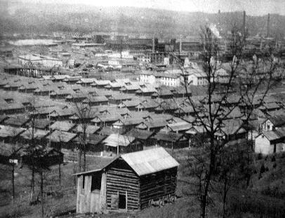 Nitro Explosives Plant in background; workers living quarters in the foreground