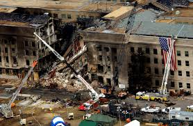 Image of the Pentagon following the attack on 9/11.