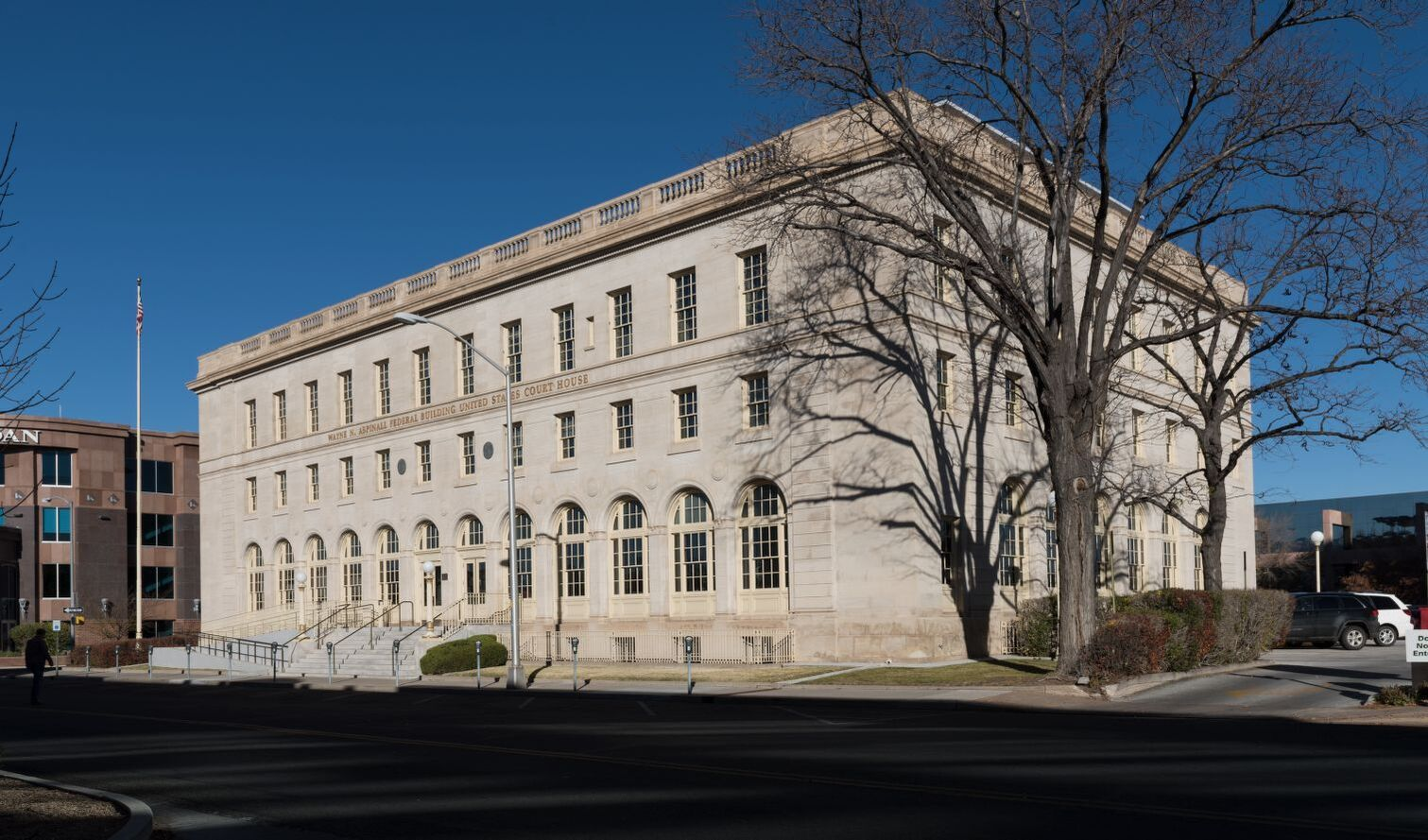 November 2014 photo of exterior of Wayne N. Aspinall Federal Building (Carol Hightower for the General Services Administration)