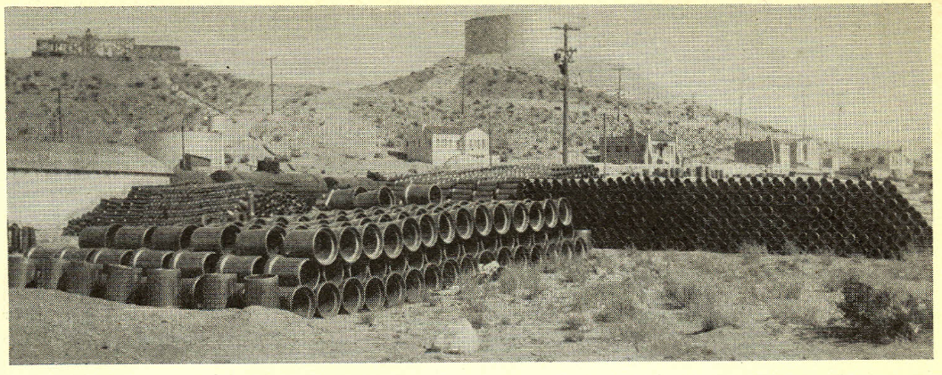 "An image of Water Tank Hill, circa 1932, from the feature ""Boulder City - A Man Made Oasis in the Destert"". (Photograph, Union Pacific Railroad)"