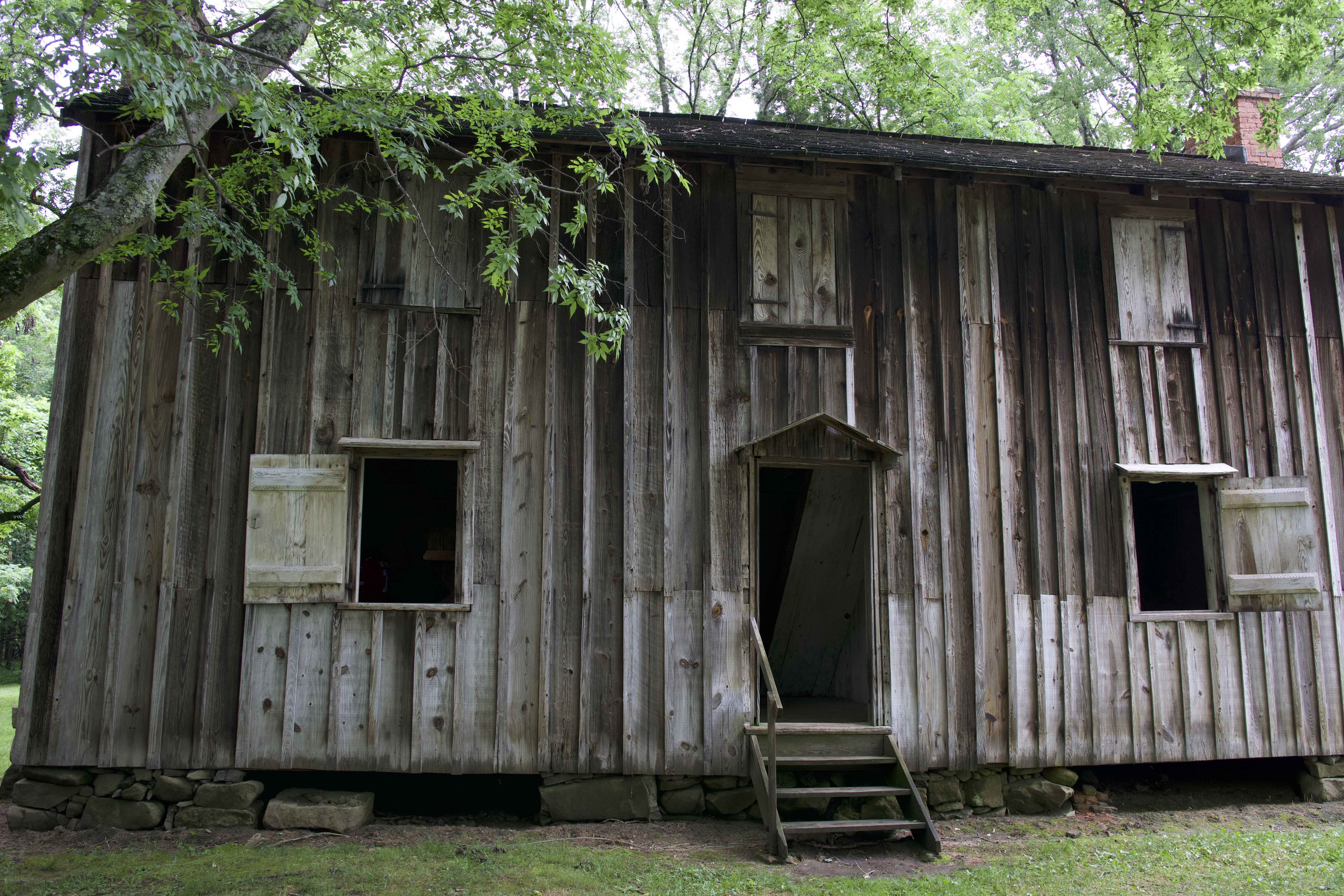 This structure - a surviving slave quarters home - is a part of the Horton Grove community. Brick insulation provided a layer of protection for slave families and has helped the structure maintain over the years.