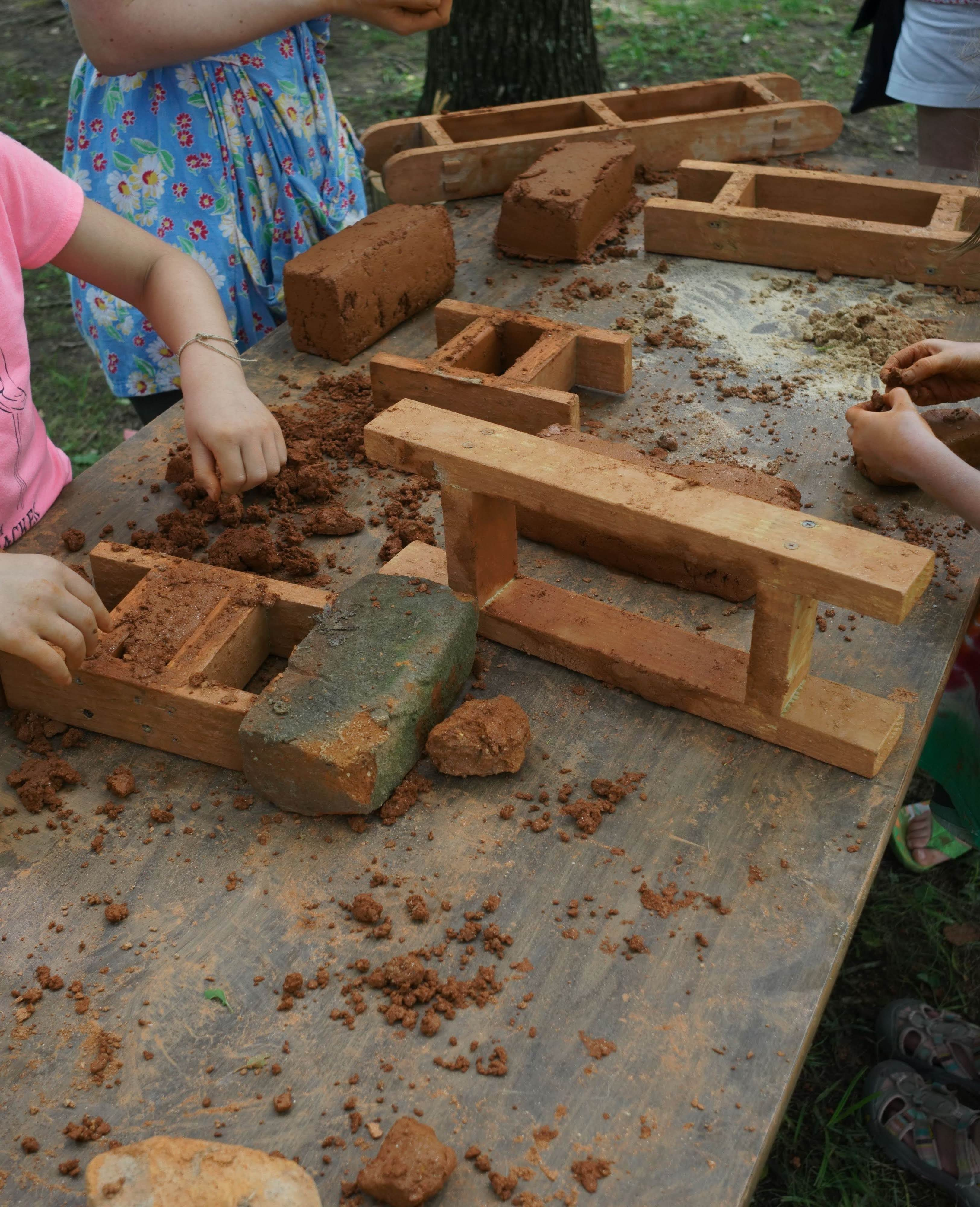 The Juneteenth event at Stagville included educational activities such as brick making in the Horton Grove community.