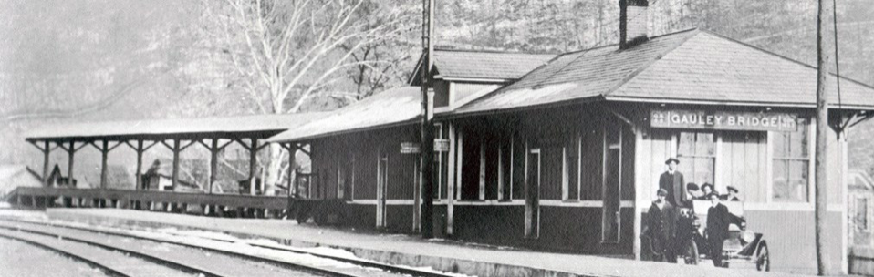 Undated photo of Gauley Bridge Railroad Station while still functioning