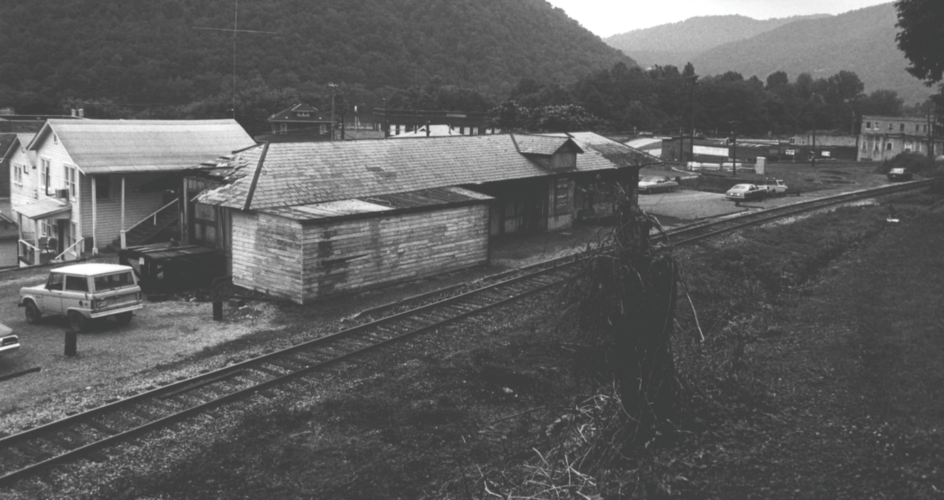 Undated photo of Gauley Bridge Railroad Station