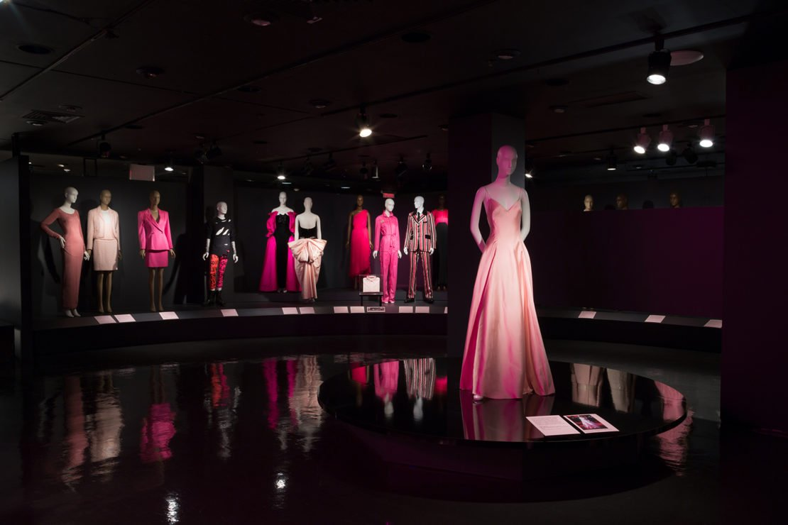 An image from the museum's exhibit, Pink: The History of a Punk, Pretty, Powerful Color, which was a companion exhibit to a book of the same title edited by the museum's director, Valerie Steele.