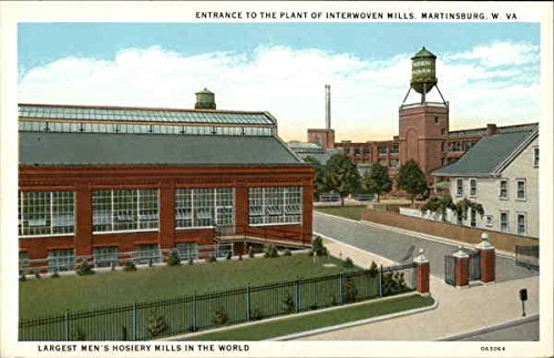 A vintage postcard depicting Interwoven Mills