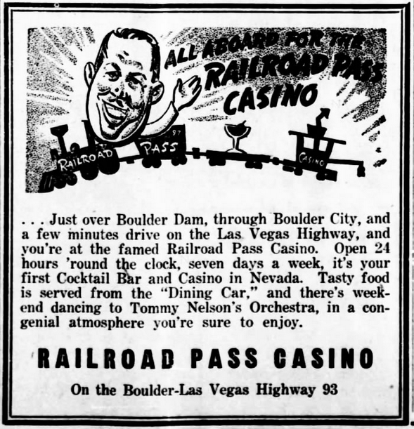 Tommy Nelson, Tommy Nelson's Orchestra, moved to Boulder City in 1931 to work on the Boulder Dam Project and stayed. He played in the SeaBee Orchestra led by George Liberace during World War II. (Arizona Daily Sun, November 28, 1947)