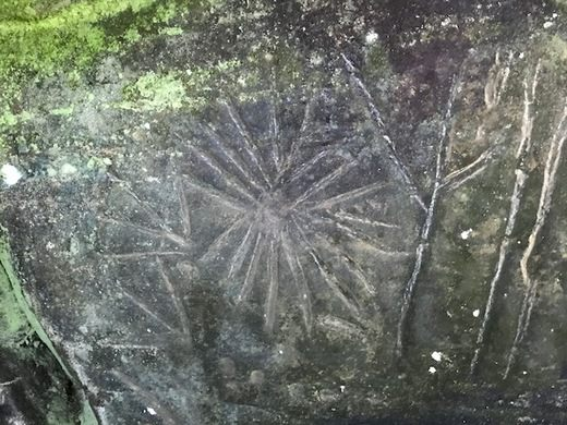 Luther Elkins Petroglyph close-up