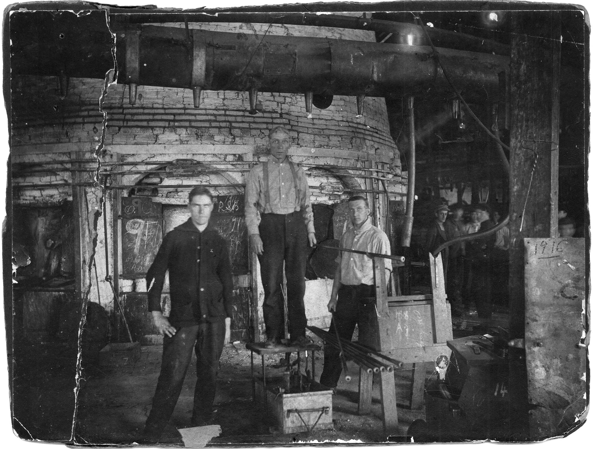 Huntington Tumbler's Furnace room. Image courtesy of Marshall University Special Collections.