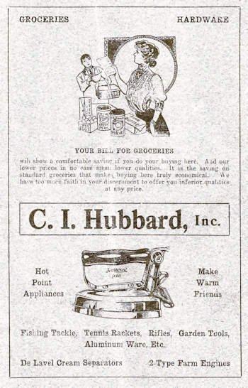 1920 Hubbard advertisement