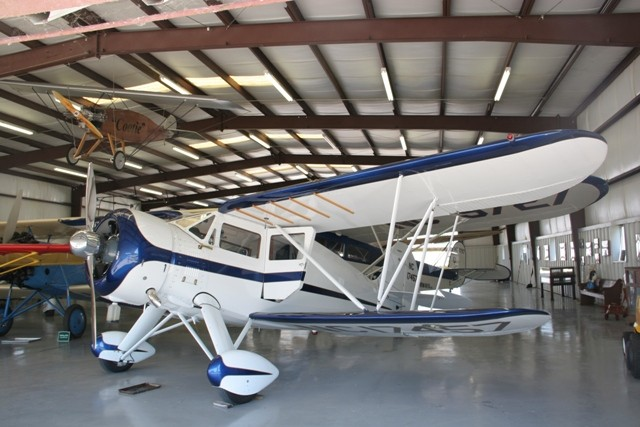 This WACO YKS-7 is one of dozens of vintage aircraft housed at the museum