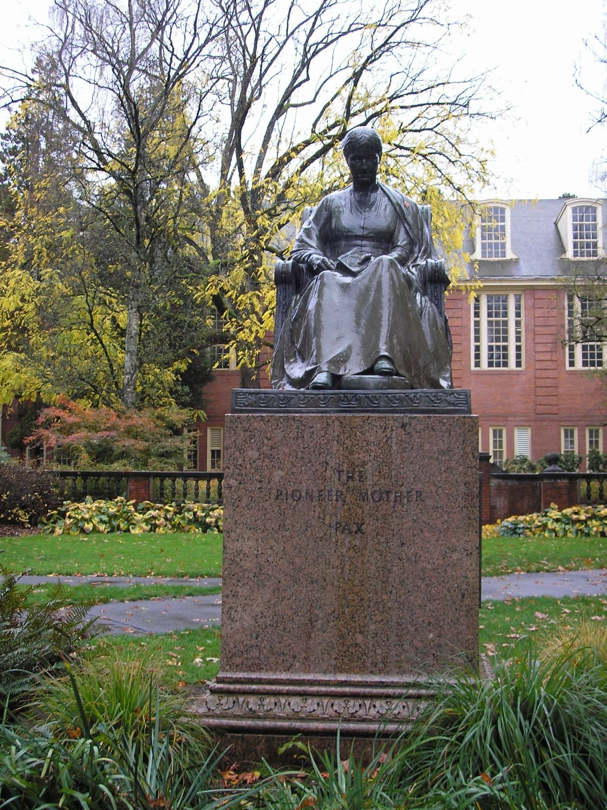 Pioneer Mother statue front view