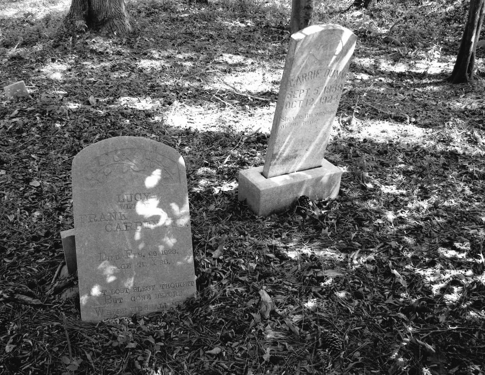 """Headstones in the Friendship Baptist Church """"Old Cemetery"""""""