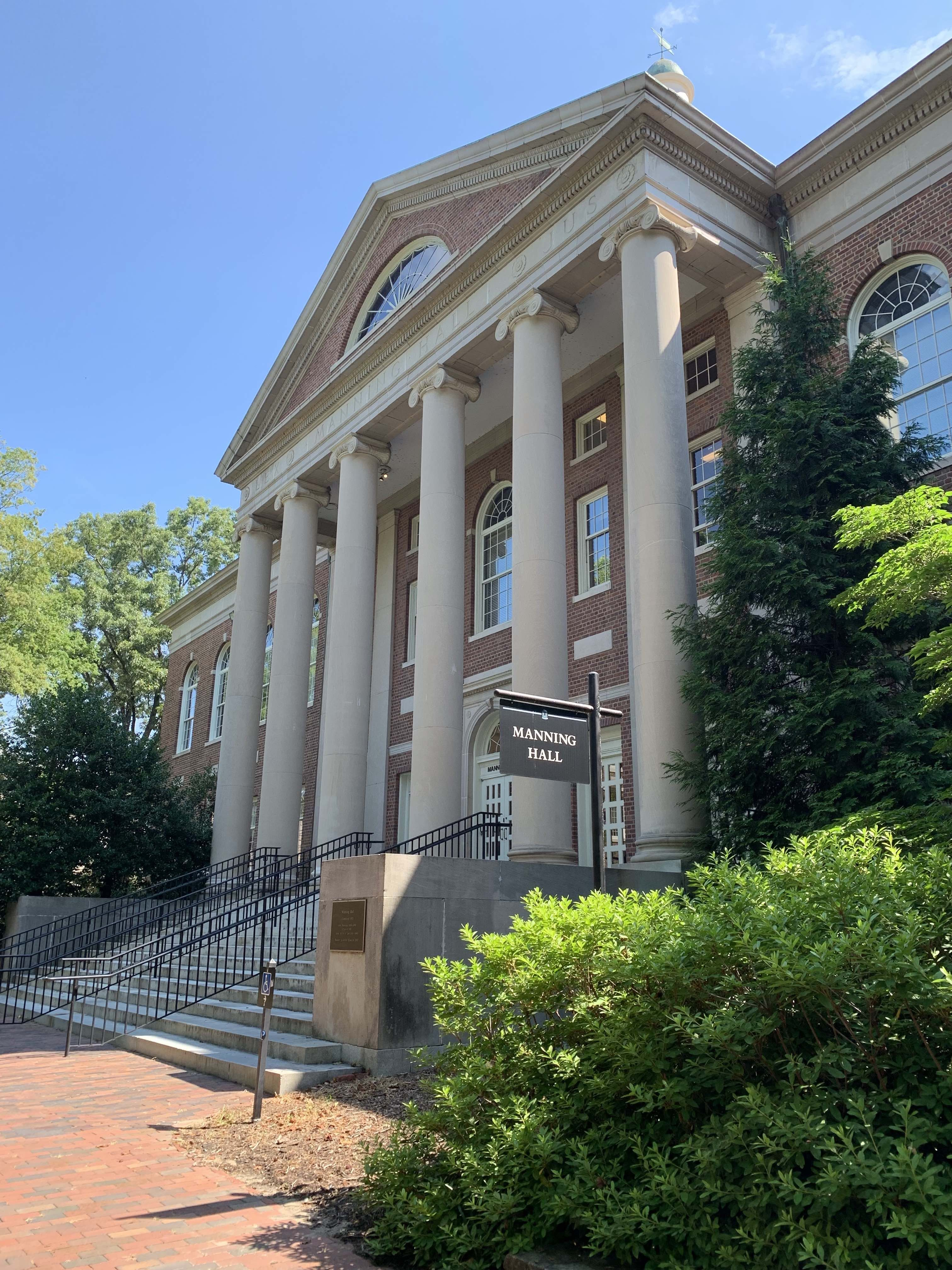 The Law School at Manning Hall was desegregated after black students sued the university for wrongful denial of admission. Decades later, a vacant Manning Hall would become the central location of the Foodworkers' Strike.