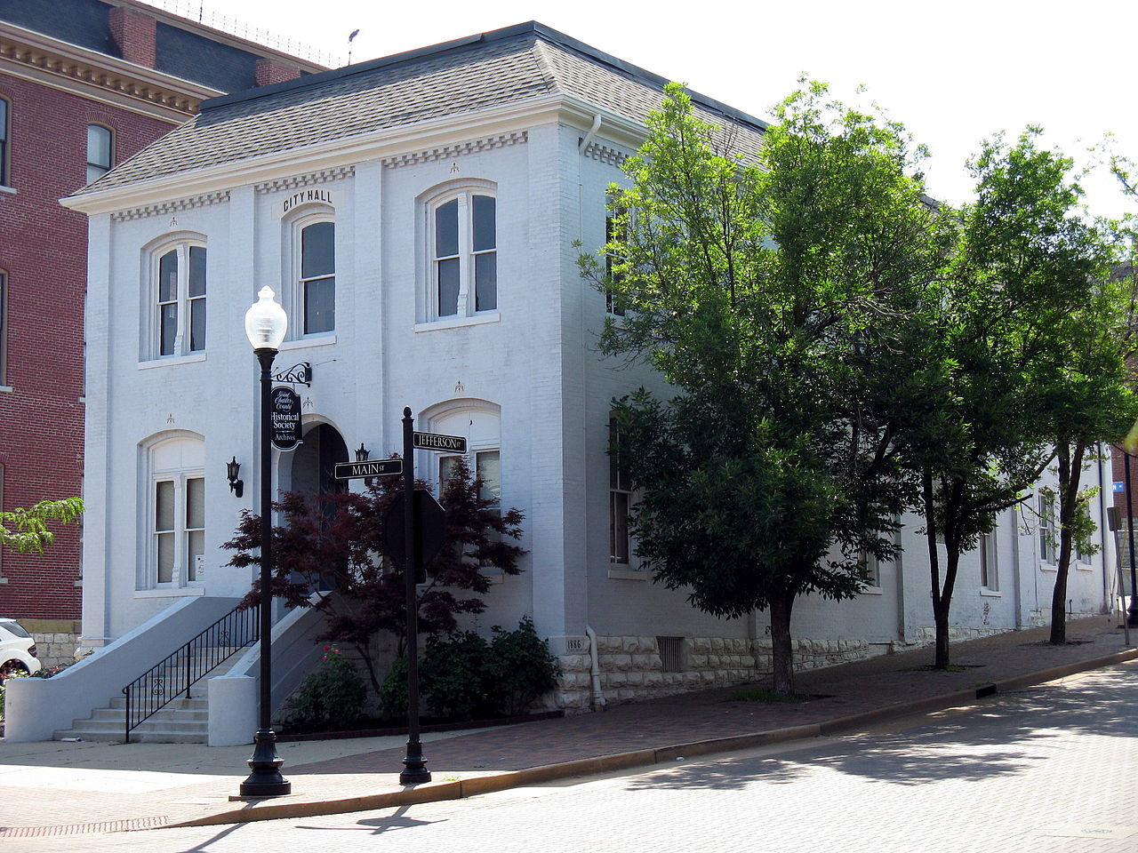 The Old City Hall Building was erected in 1886 and has been the home of the St. Charles County Historical Society since 1982.