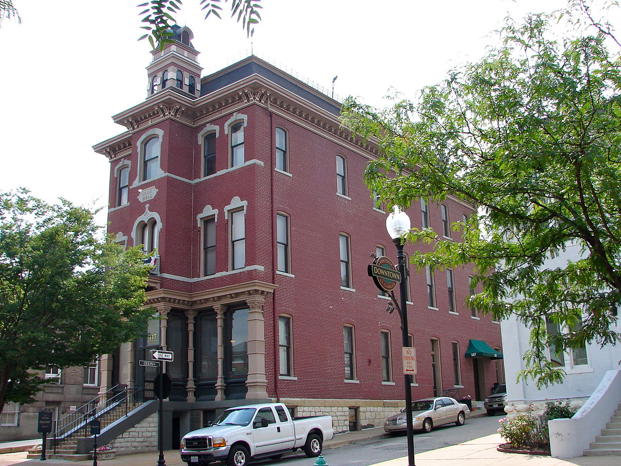 The St. Charles Odd Fellows Hall was built in 1878 and is one of the city's most recognizable buildings.