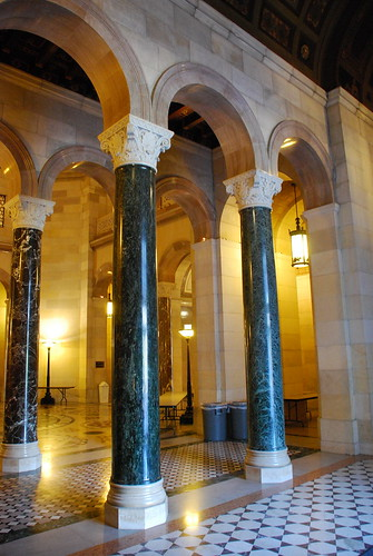 Columns Surrounding the Rotunda, All Made of Marble