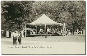 The carousel as seen in this circa 1906 postcard