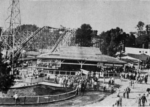 Carousel and park in the 1930s