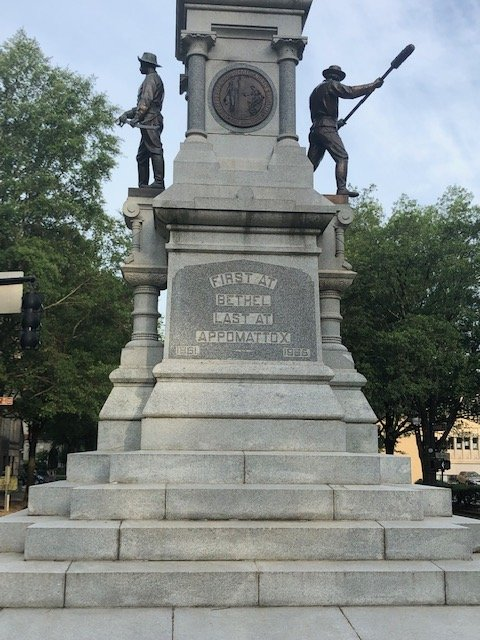 Base of the North Carolina Confederate Soldiers Monument