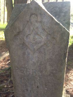 The back of Perry Cline's tombstone