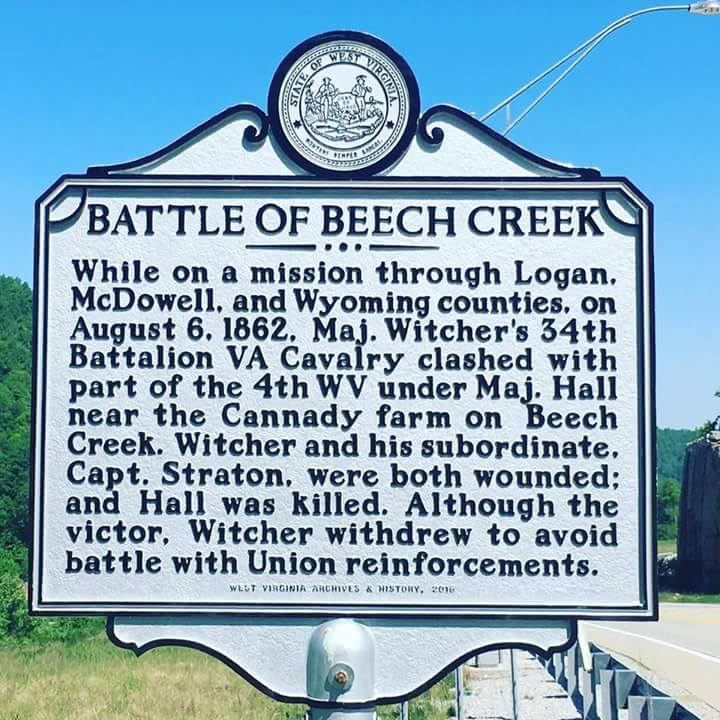 The historical marker for the Battle of Beech Creek was dedicated in 2017 at this location.