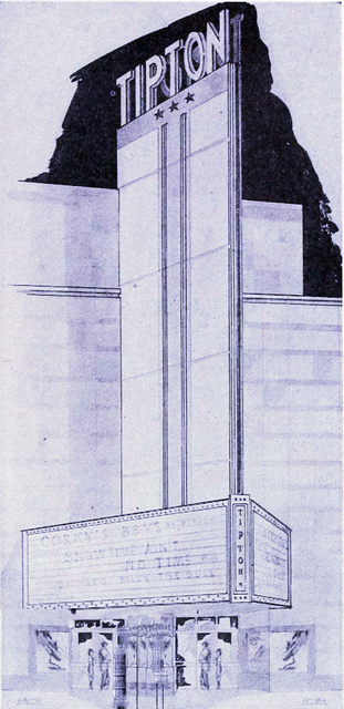 1946 architectural sketch by F & Y Building Service