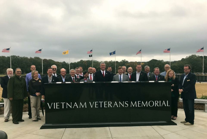 The Vietnam Memorial Replica Wall in Tupelo was dedicated in 2017