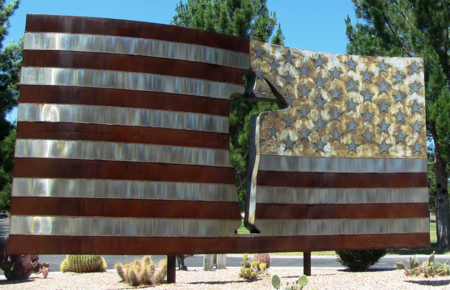 """The """"missing man"""" public art at the Southern Nevada Veterans Memorial Cemetery."""