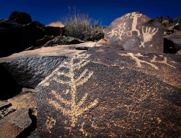 Sloan Canyon petroglyphs. (Photograph, Las Vegas Review Journal)